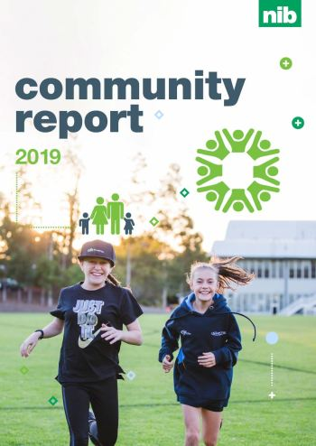 front cover of the 2019 community report