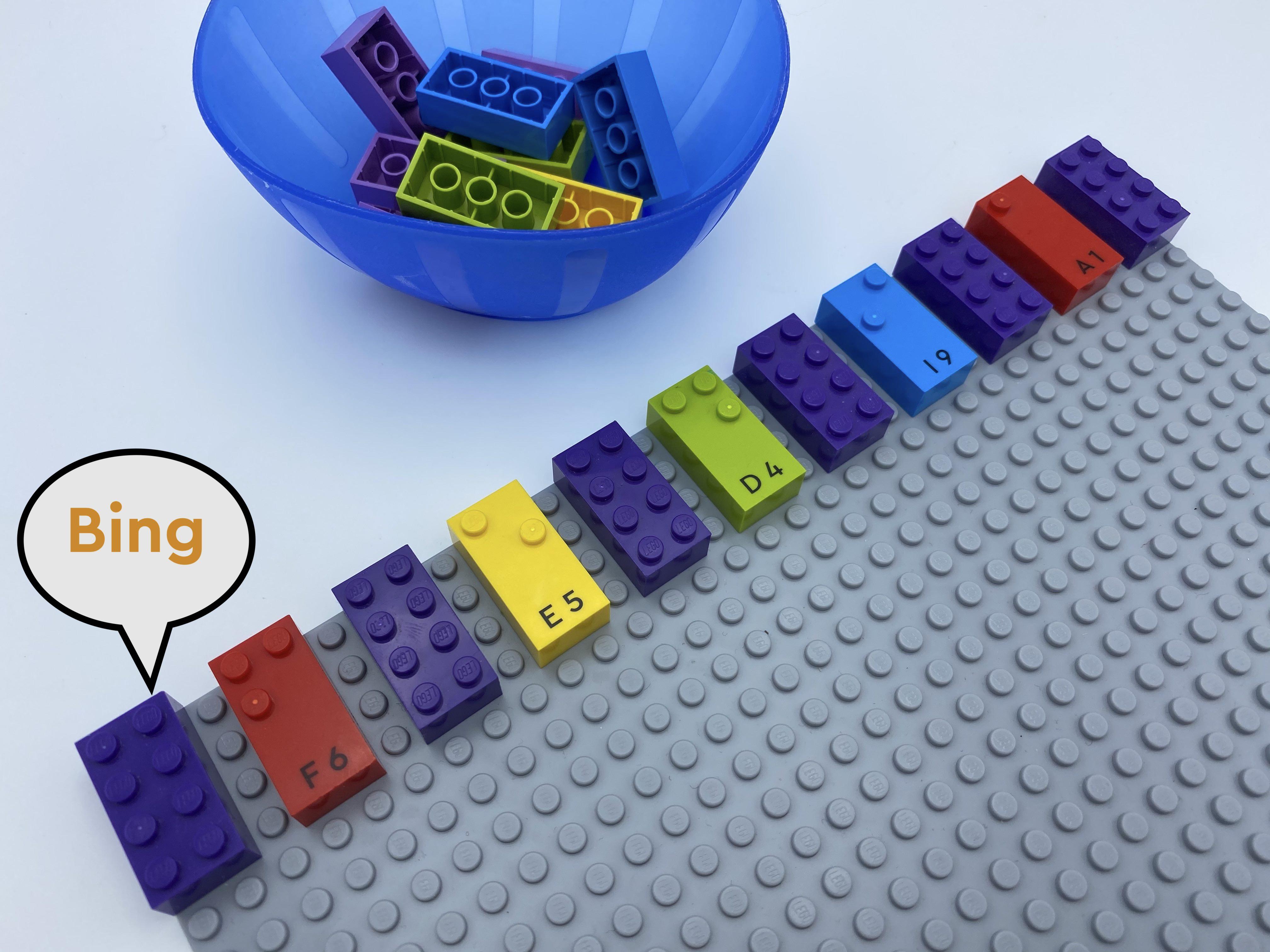 A row of 11 bricks: classic, f, classic, e, classic, d, classic, i, classic, a, classic.
