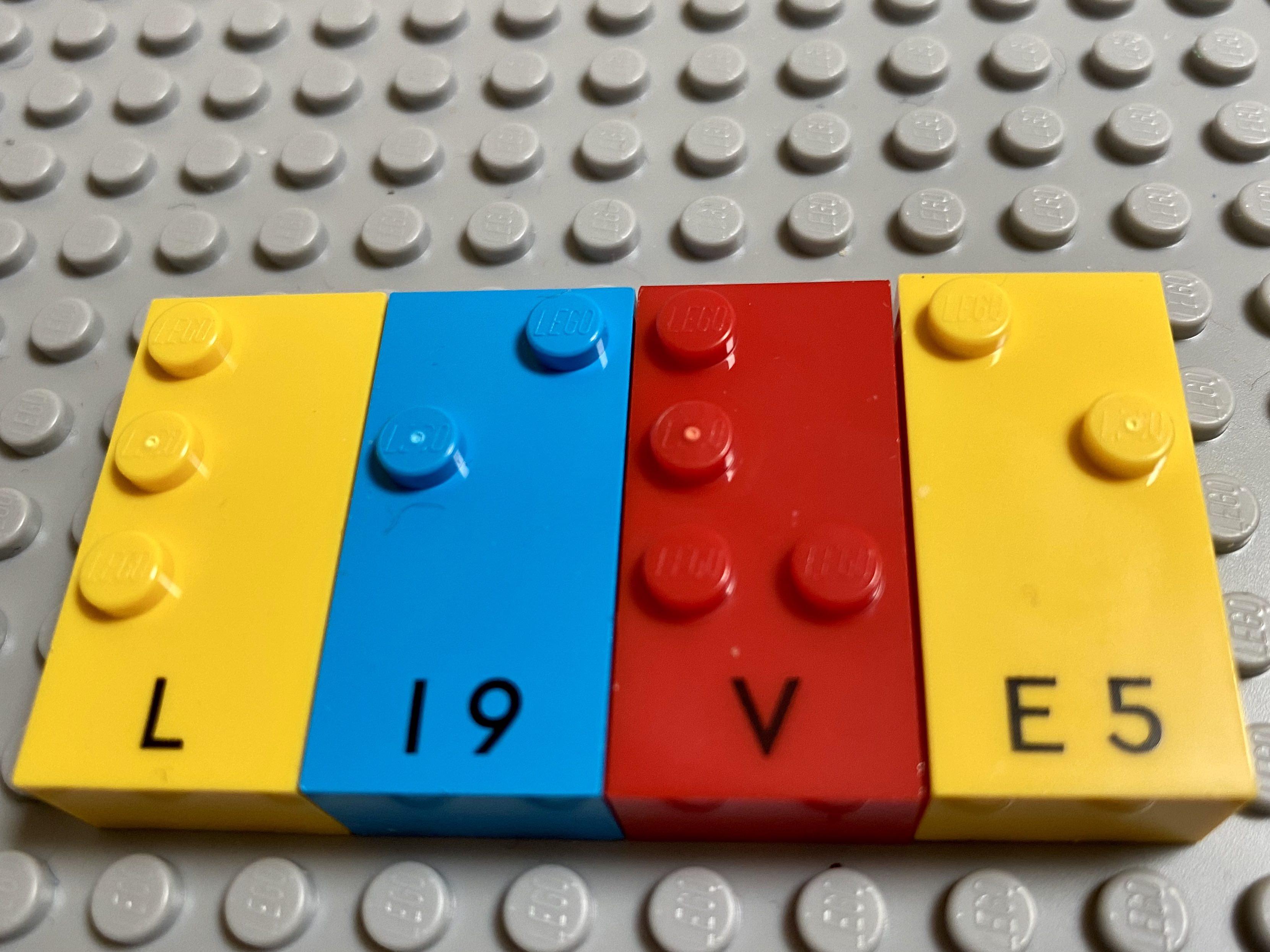 """""""live"""" written with bricks."""