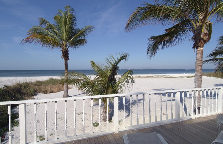 View from oceanfront Gulf Cottage-Fort Myers