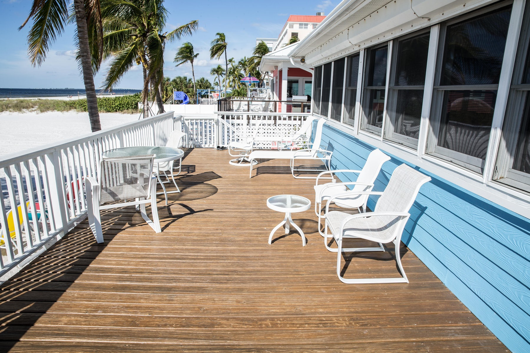 Rental Condo Deck in Fort Myers Beach""