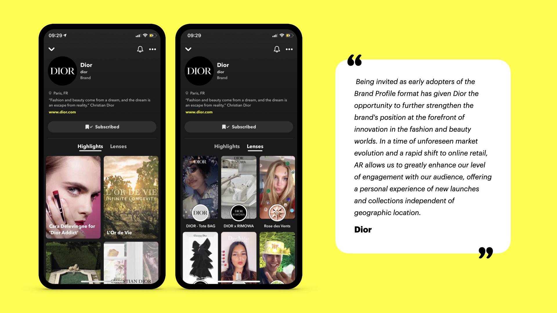 brand profiles snapchat