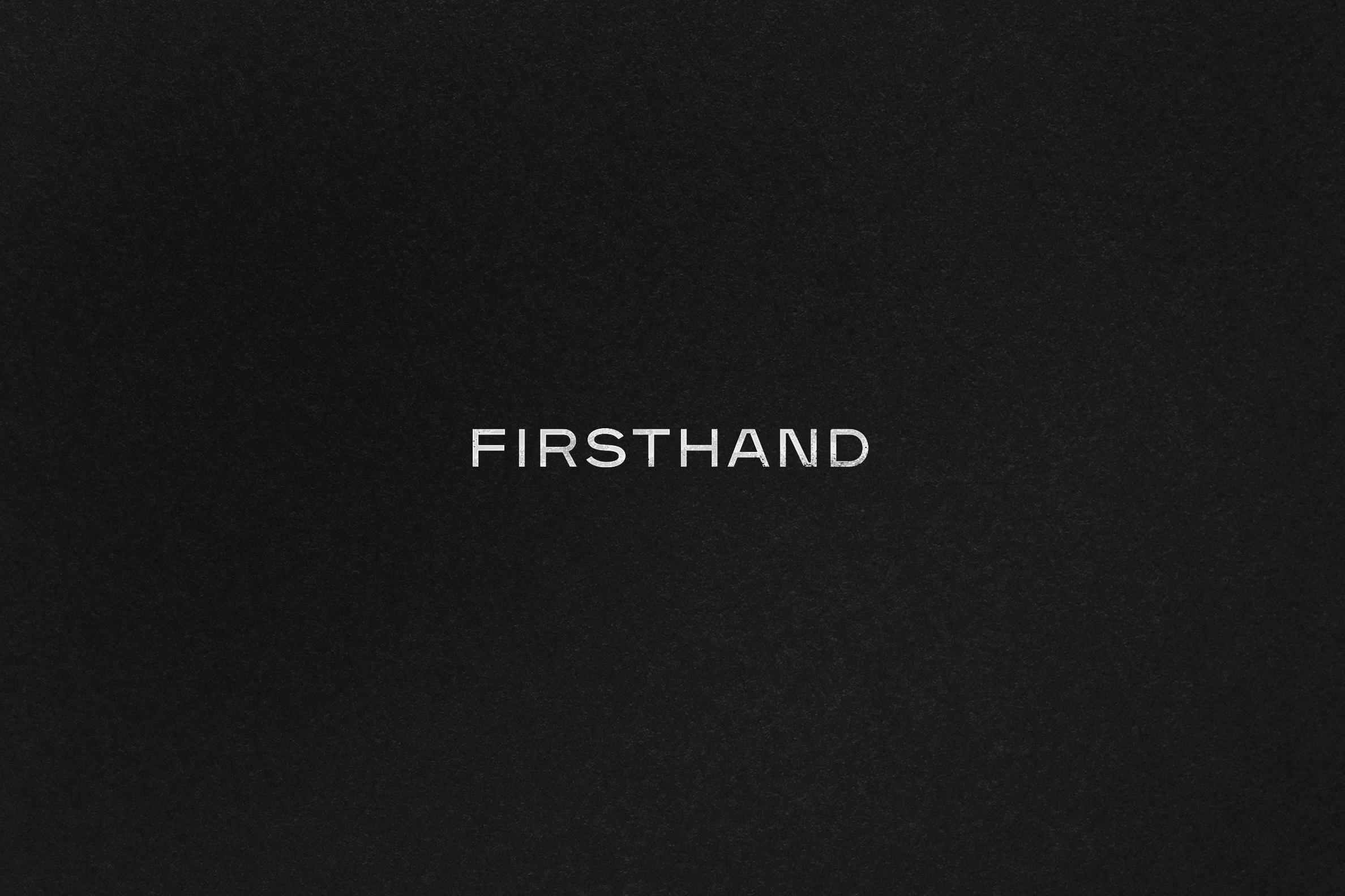 Firsthand Supply Wordmark Logo