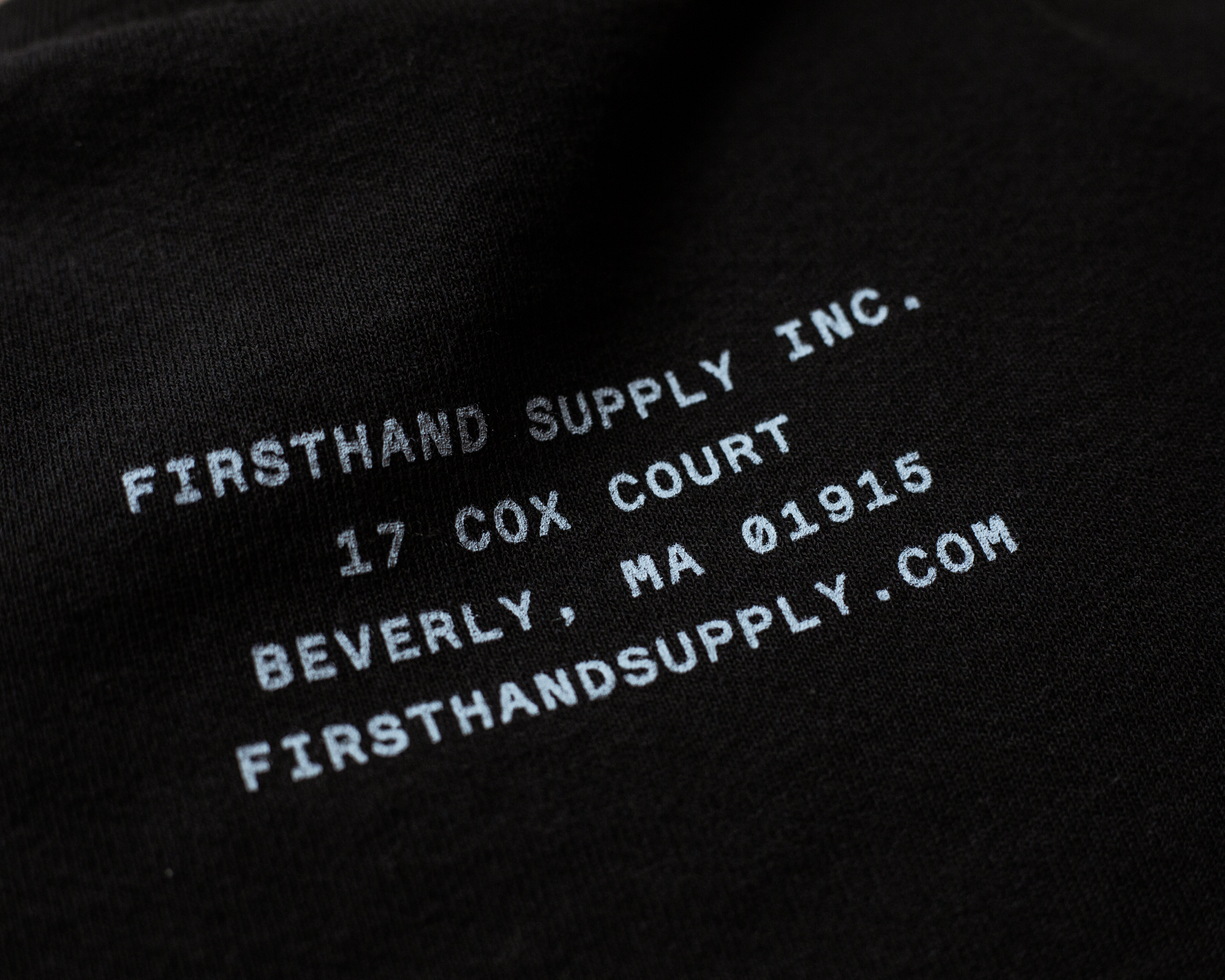 Firsthand - Apparel, Typography