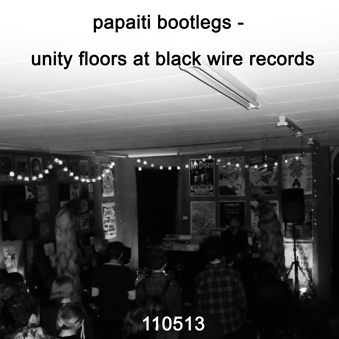 Unity Floors at Black Wire Records