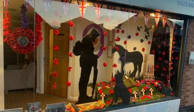 Remembrance day window displays
