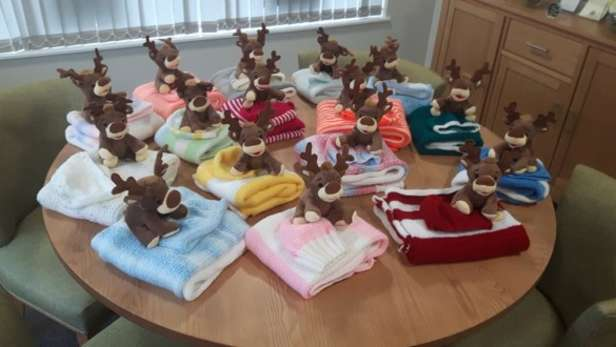 reindeers and blankets - Neonatal Unit gift