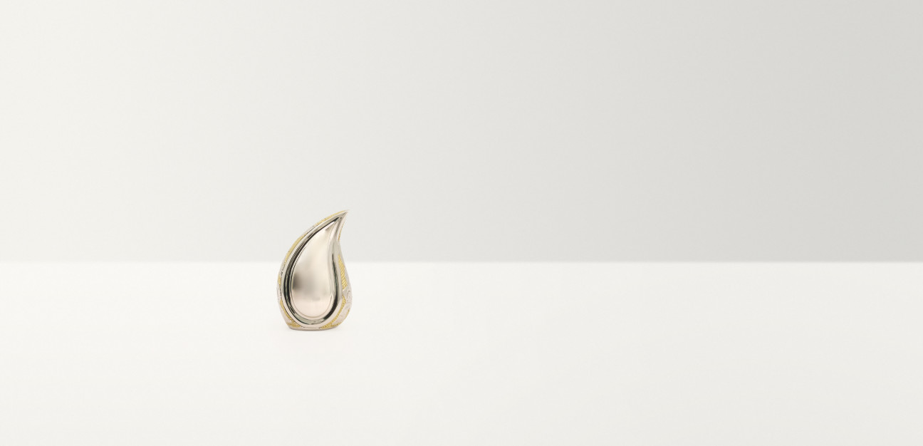 Silver teardrop ornament