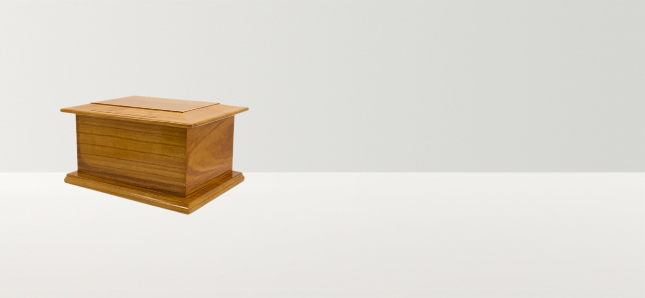 Light wooden casket