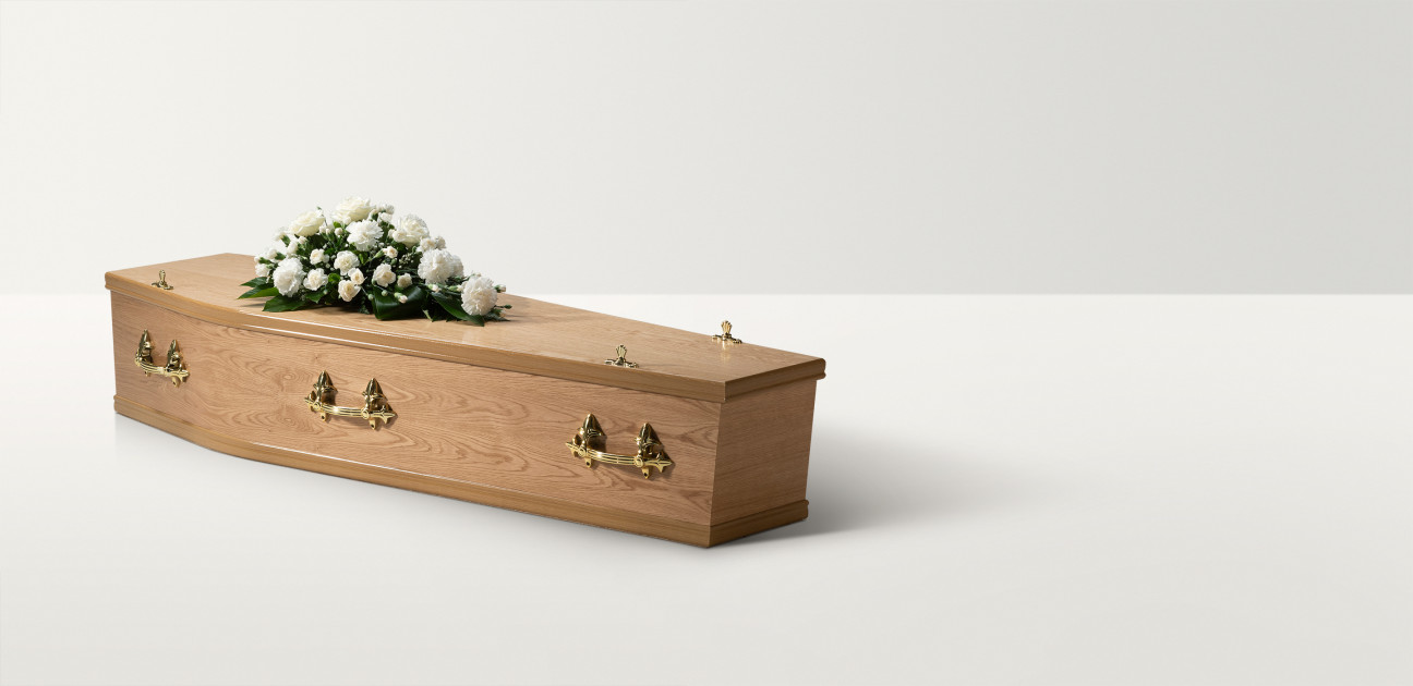 Traditional Oak Coffin