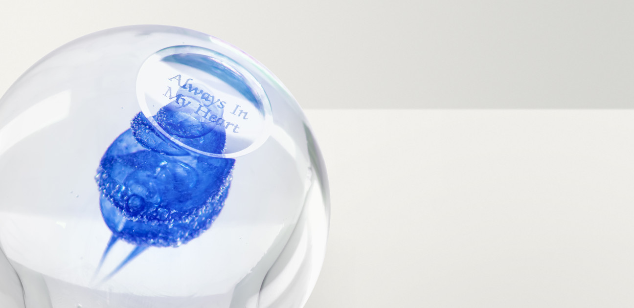 Blue paperweight