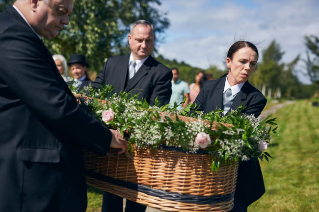 Greener, environmentally friendlier funerals are possible, and they can be made personal, colourful and unique. If arranging a funeral like this is important to you, we can help you make a funeral more eco-friendly.
