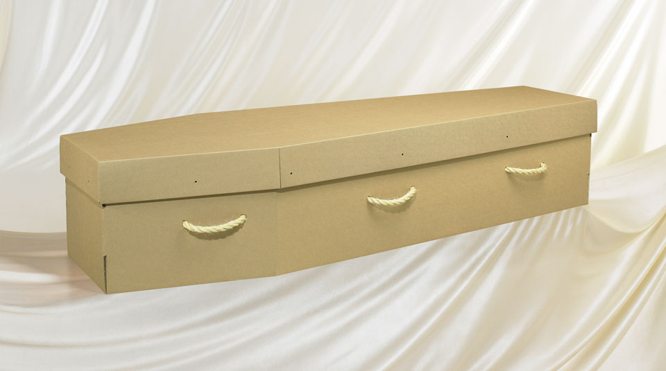 Brown Cardboard coffin