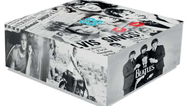 Memory box with images from the 60's.