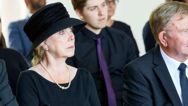 Lady at funeral