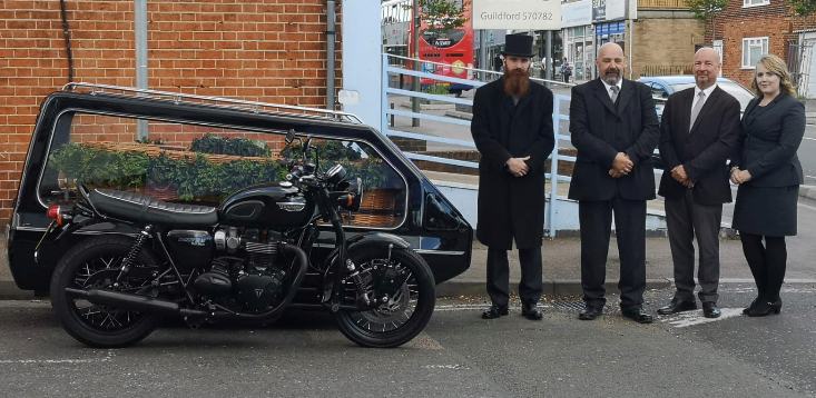 Motorcycle hearse Guildford