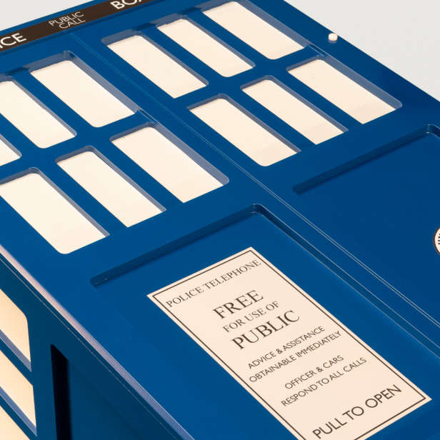 Coffin painted as the TARDIS