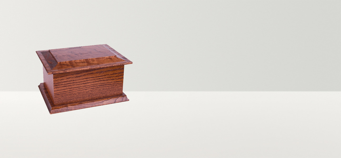Dark traditional casket