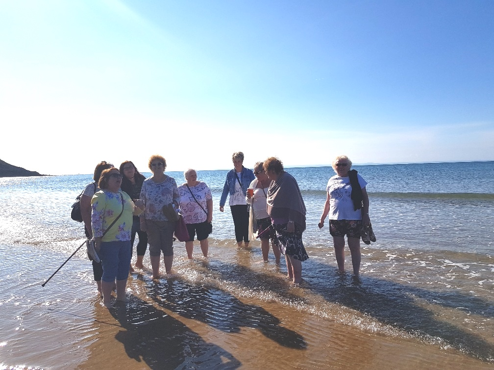 Bereavement group beach walk 2