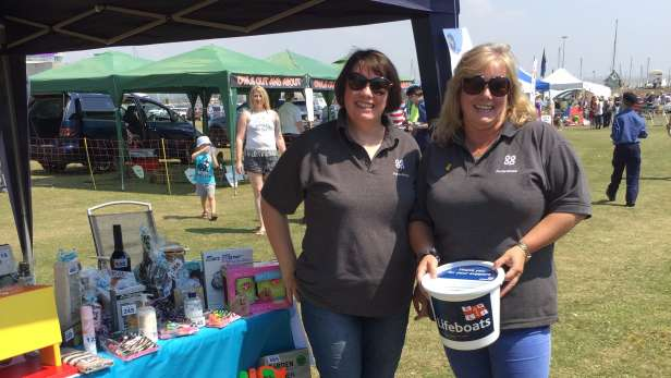Funeral arrangers helping out at the Newhaven show.