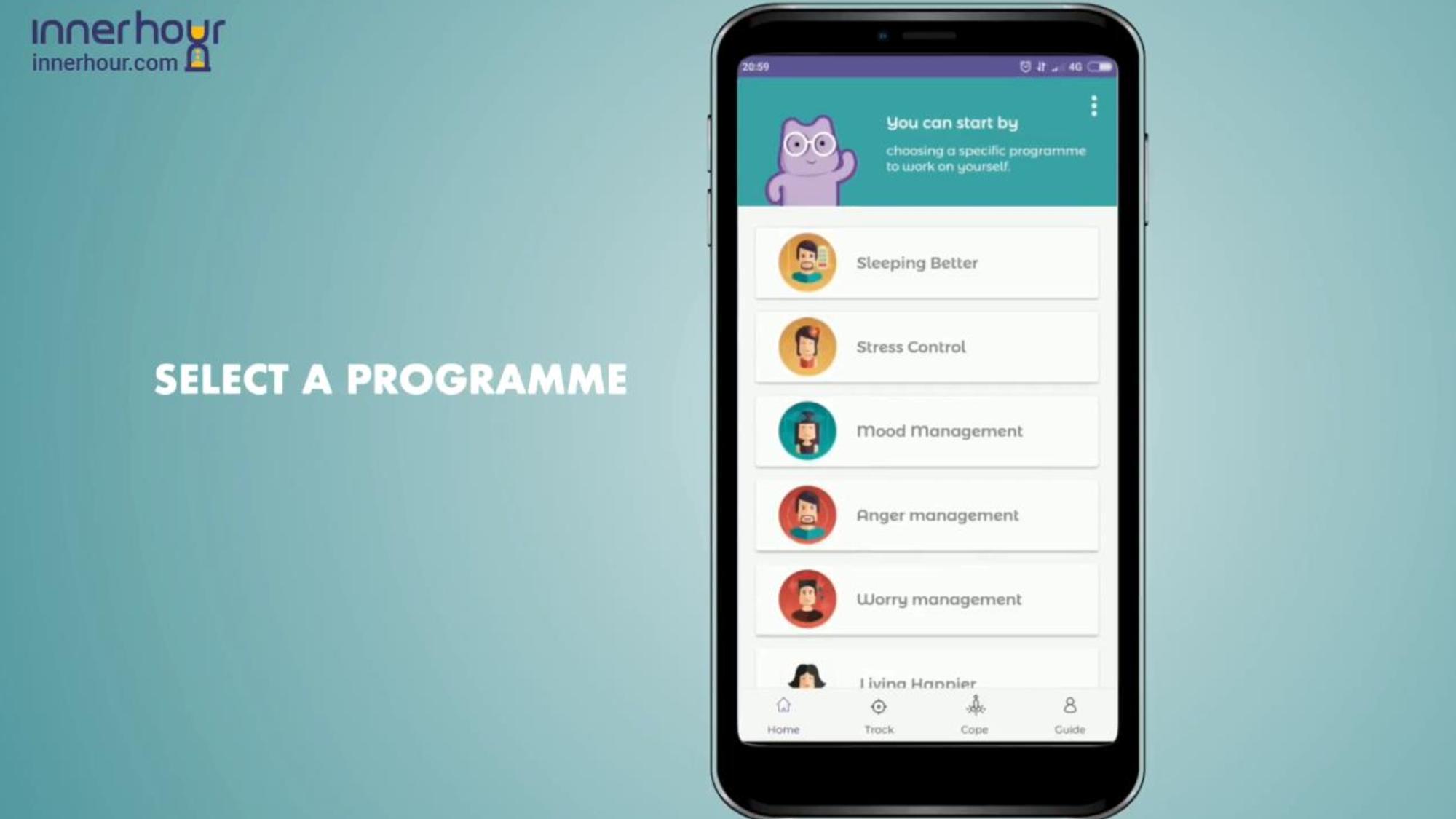 InnerHour select a programme screen