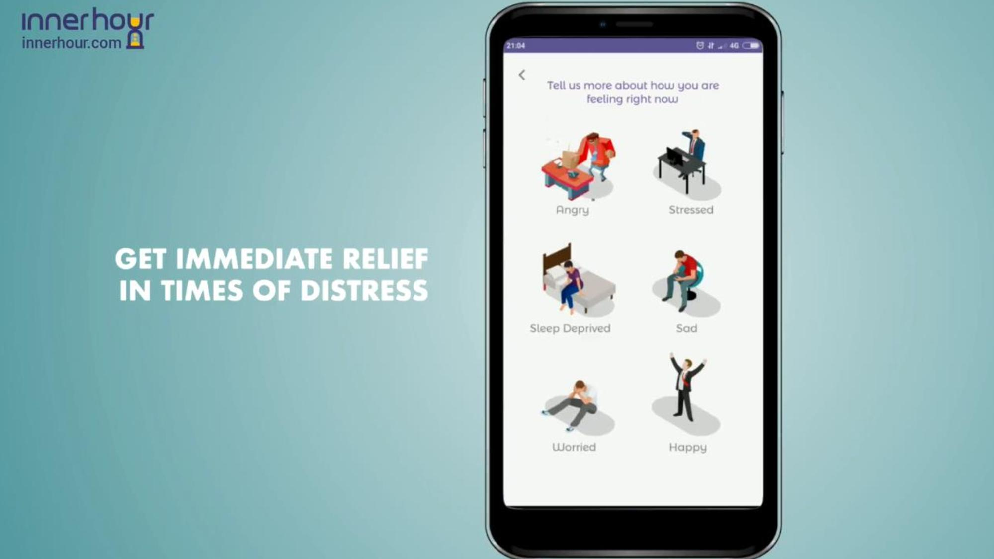 InnerHour relief for distress screen