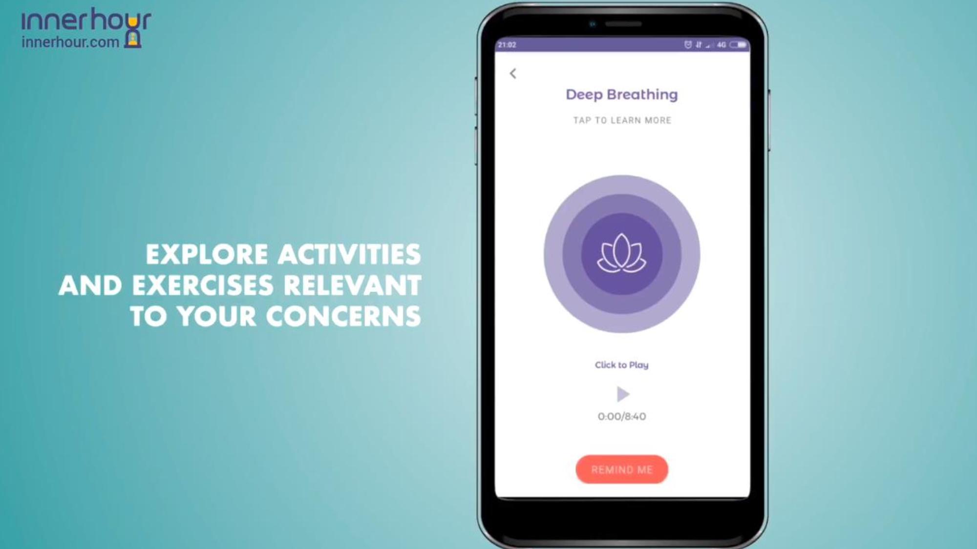 InnerHour explore activities screen