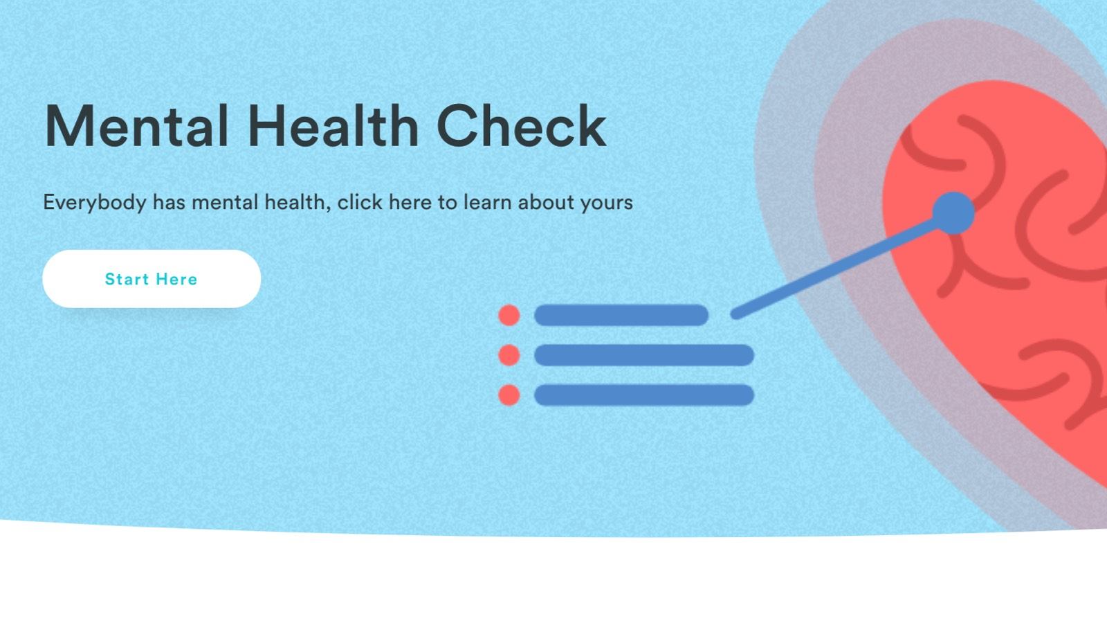 A screenshot of Braive's Mental Health Check