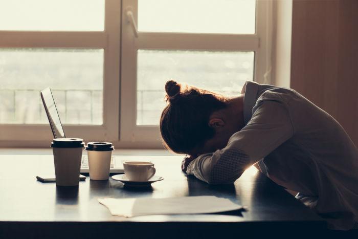 Sleep debt due to lack of sleep