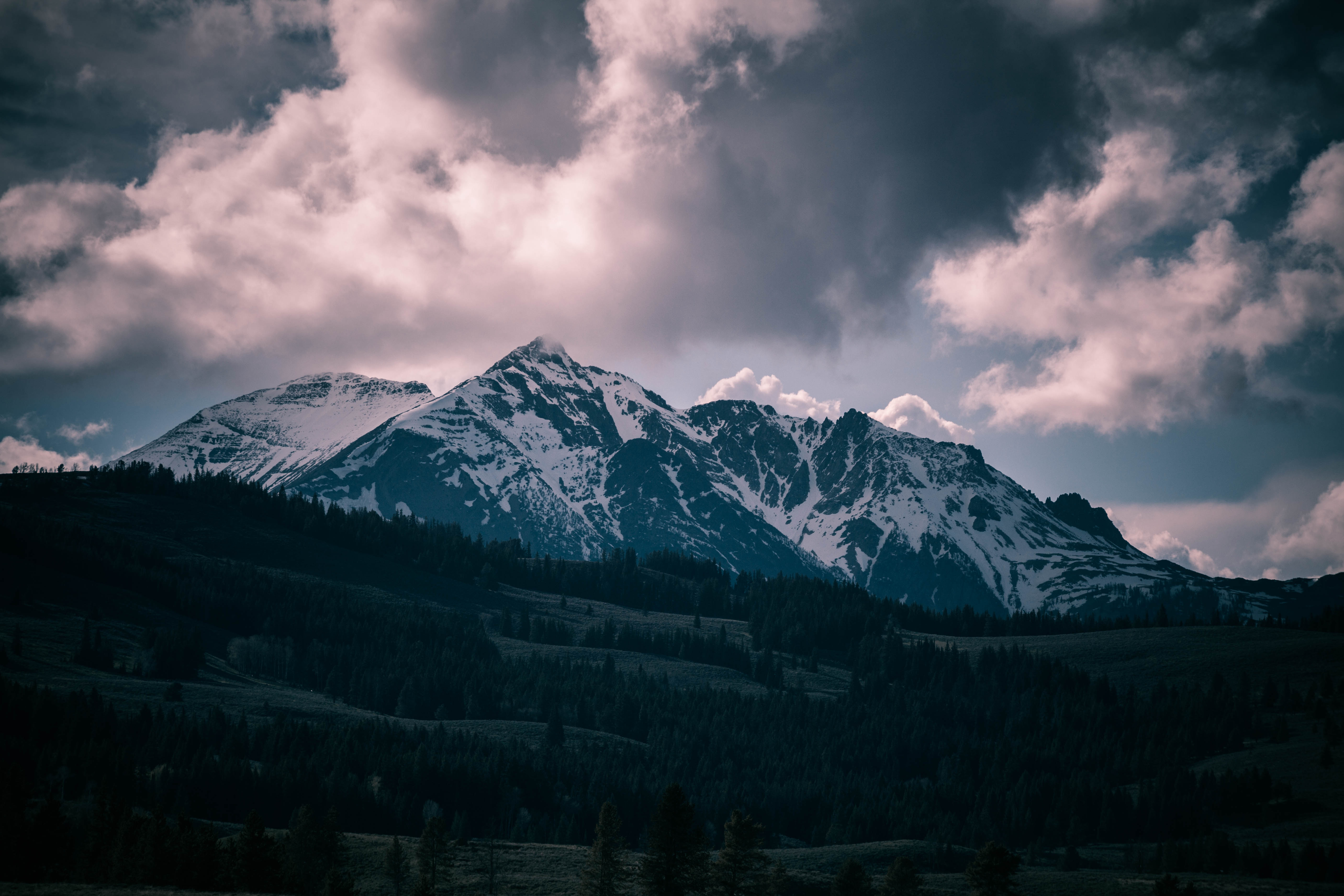 Storm clouds and mountains