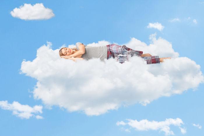 The best and worst sleeping position  - sleeping on cloud nine