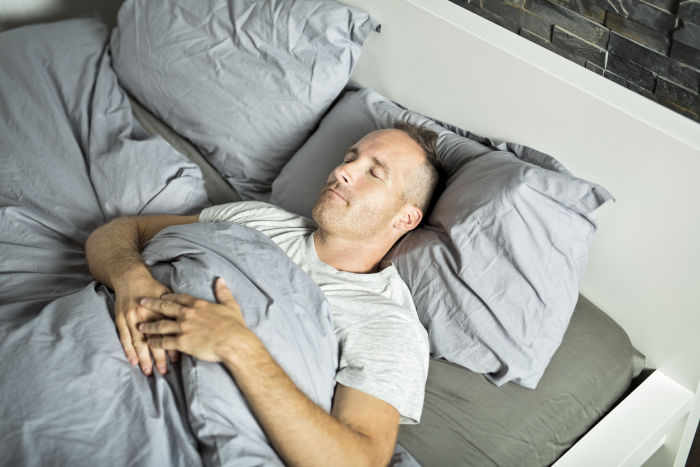 Best and worst sleeping positions - sleeping on back