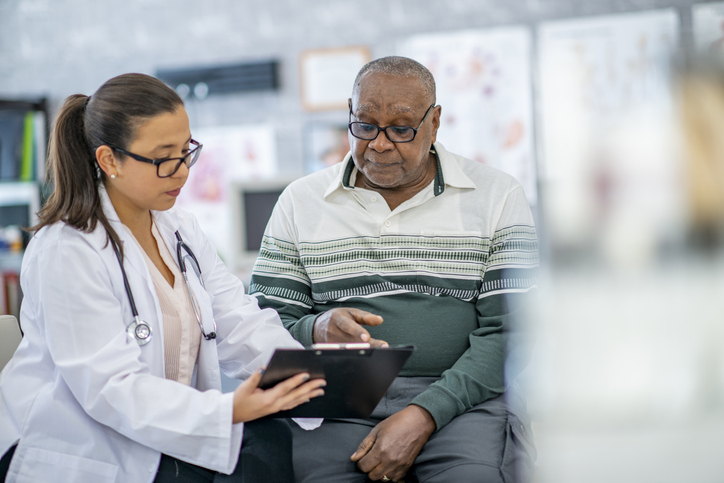 Man consults with his doctor