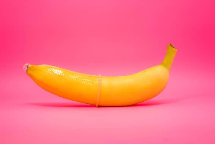 Conceptual image of condom