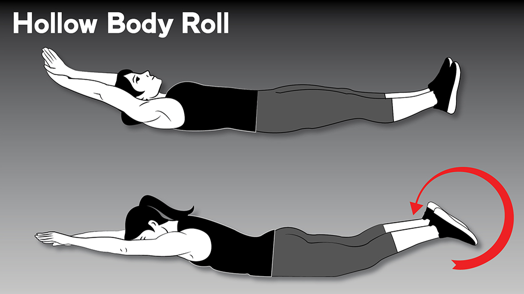 core strengthening exercises: SpartanBlog HollowBodyRoll