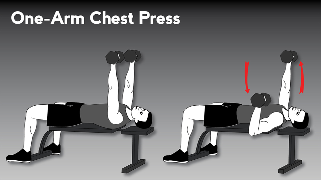 core strengthening exercises: OneArmChestPress