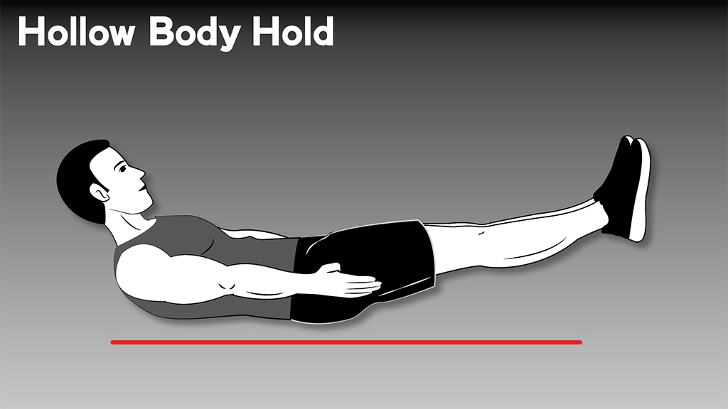 core strengthening exercises hollow body hold