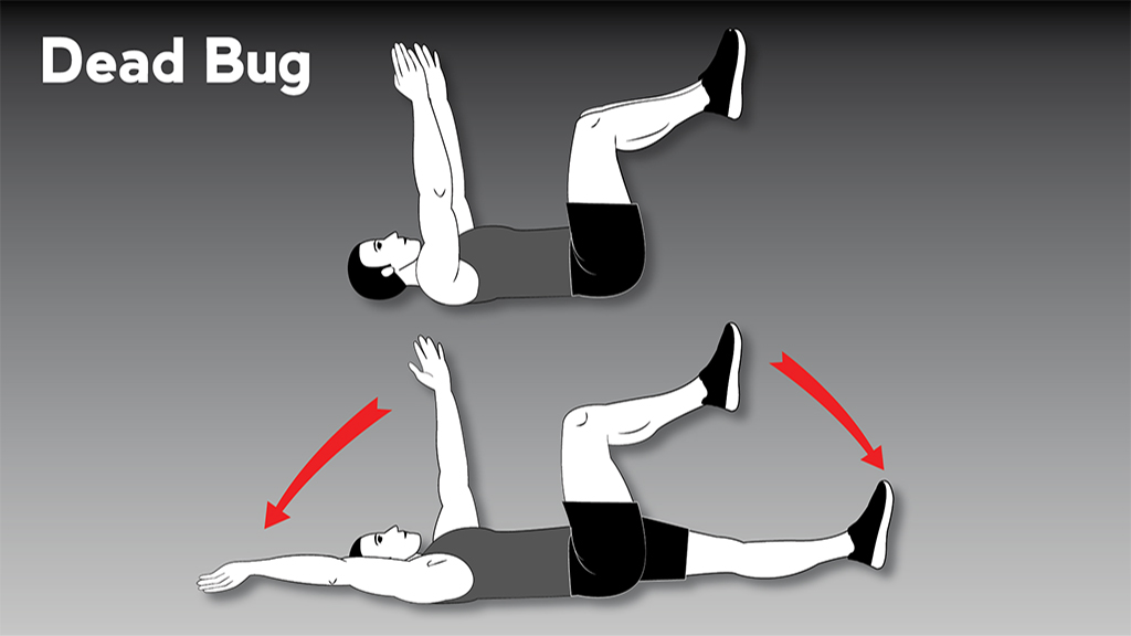 core strengthening exercises: DeadBug