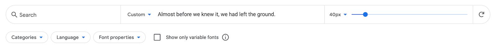 select-fonts