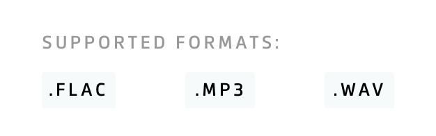 Supported music formats