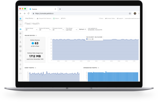 A cloud interface for monitoring and managing connected products