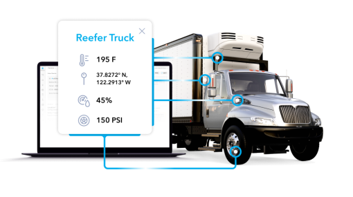 Diagnosing a reefer truck with the Particle IoT device management system