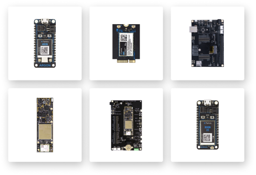 Particle's suite of IoT hardware