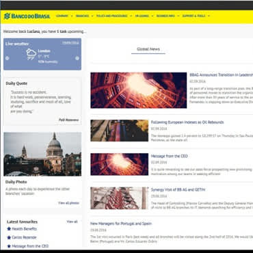 E' live la nuova Intranet EMEA di Banco do Brasil