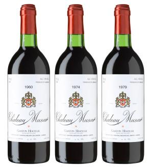 0 Musar Red Anniversary Coll. Case (60, 74, 79) Chateau Musar Bekaa Valley  Lebanon Still wine