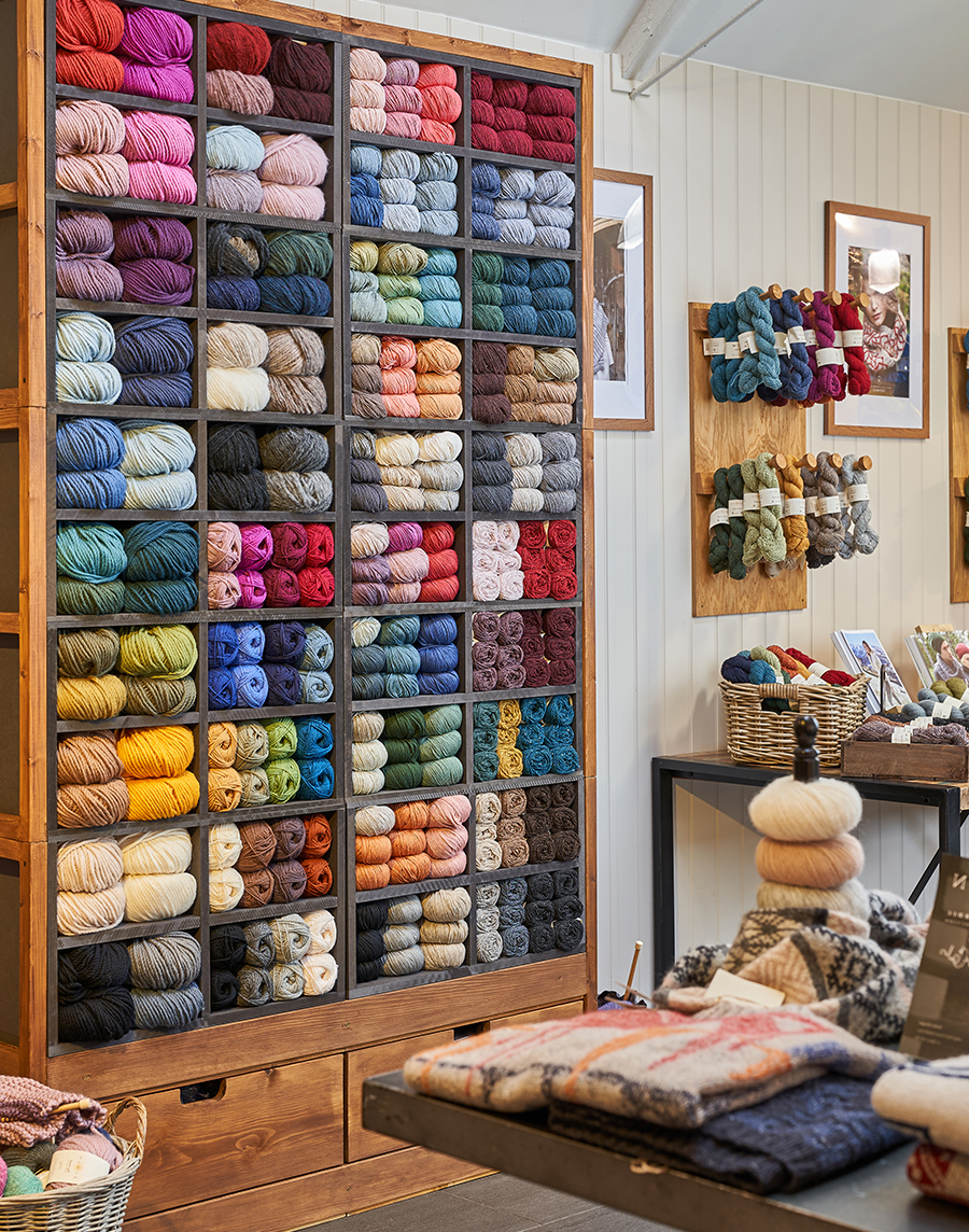 Rowan at OSPREY Yarn Wall