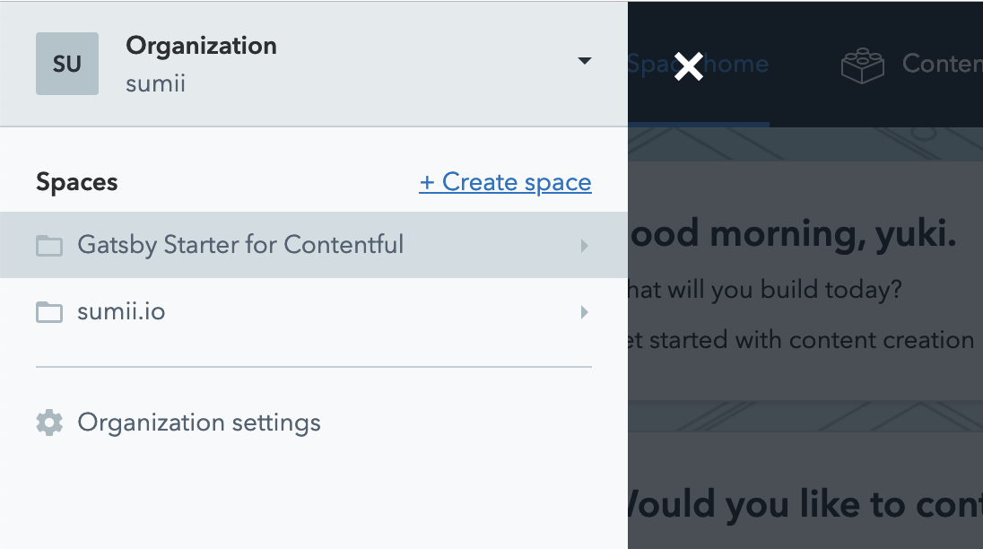 contentful-create-space