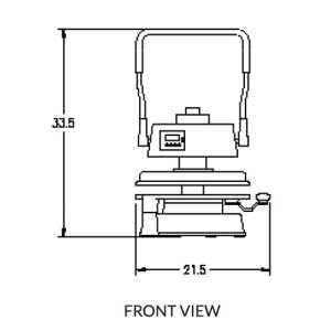 Endurance X1 DP1100M Manual Pizza Dough Press with