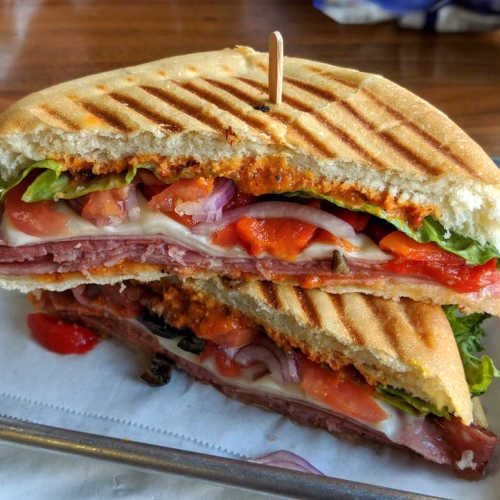 Hot Spicy Italian Panini Grilled Sandwich