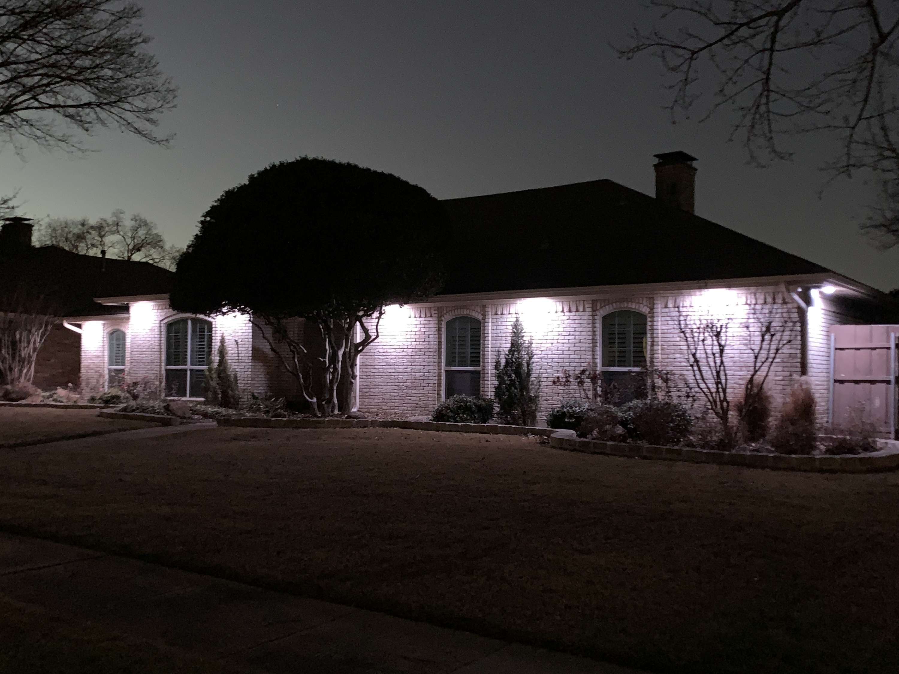 a home with trimlight down lighting installed